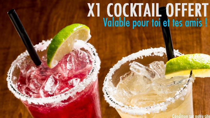 Ton cocktail est offert : Profitez-vite de l'offre !